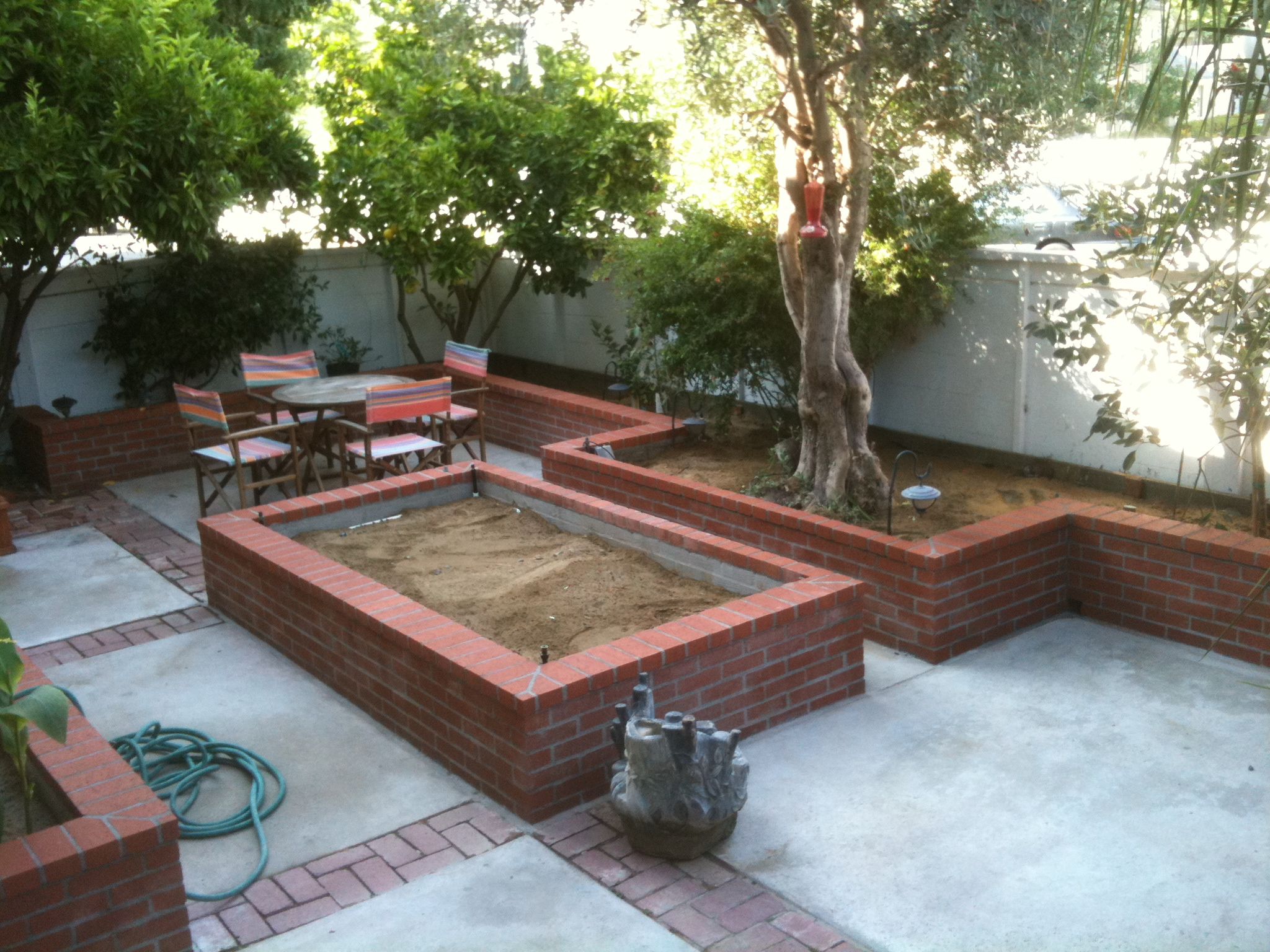 brick raised garden beds - Brick Garden 2015